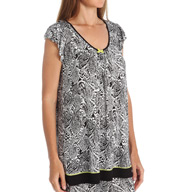 Ellen Tracy Tranquil Short Sleeve Top 8415430