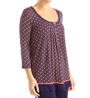 Ellen Tracy Escape 3/4 Sleeve Top 8415432
