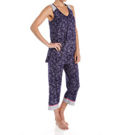 Ellen Tracy Enchanted Sleeveless Capri PJ Set 8615458