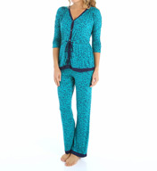 Ellen Tracy Benevolence 3/4 Sleeve Long PJ Set 8715329
