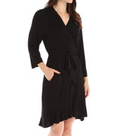 Ellen Tracy 3/4 Sleeve Short Wrap Robe 8815331
