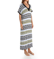 Ellen Tracy Tranquil Short Sleeve Long Tunic Caftan 8815430