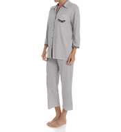 Ellen Tracy Enchanted 3/4 Sleeve Long PJ Set 8915431