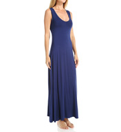 Fleur't Lounge With Me V-Neck Long Dress with Shelf Bra 5424LWM