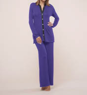 Fleur't Dreaming Of You Button Front Two Piece Pajama Set 5602