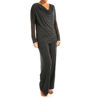 Fleur't Modern Romance Cowl Neck Top and Pant Set 5621MOR