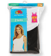 Fruit Of The Loom Ladies' Cotton Ribbed Tank - 2 Pack 2R2402