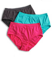 Fruit Of The Loom Ladies Assorted Plus Size Briefs - 3 Pack 3DFWBRP