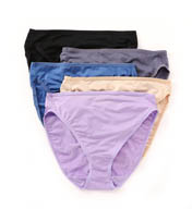 Fruit Of The Loom Assorted Microfiber Hi-Cut Brief Panties - 5 Pack 5DMF251