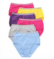 Fruit Of The Loom Heather Brief Panties - 6 Pack 6DBRIHT