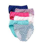 Fruit Of The Loom Cotton Stretch Hi-Cut Brief Panties - 6 Pack 6DCW254