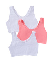 Fruit Of The Loom Tank Style Sports Bra - 3 Pack 9012