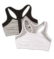 Fruit Of The Loom Moisture Control Racerback Sports Bra - 2 Pack FT390