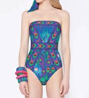 Gottex Classic Victoire Bandeau One Piece Swimsuit 14VI070