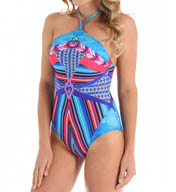 Gottex Neo Tribe High Neck One Piece Swimsuit 15NT055