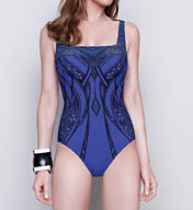 Gottex Stardust Square Neck One Piece Swimsuit 15SR172