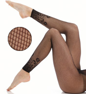 Hanes Novelty Border Footless Net Tight 0B938