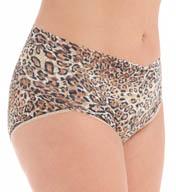 Hanky Panky Leopard Nouveau Plus Retro V-Kini Panty 4X2122X