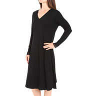 Hanky Panky Supima Cotton Interlock Long Sleeve Gown 83G114