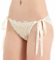 Hanky Panky Gilded Lace Side Tie Bikini Panty 9X2806