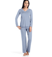 Hanro Champagne Long Sleeve Pajama Set 6704