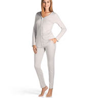 Hanro Pisa 2 Piece Pajama with Piping Detail 77863