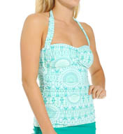 Helen Jon Tulum Convertible Retro Tankini Swim Top EM0203