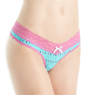 honeydew Ahna Rayon & Lace Thong 200260