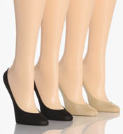 Hue Fabulous Feet Microfiber Liner Socks - 4 Pack 12960
