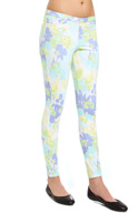 Hue Watercolor Floral Jeans 14245