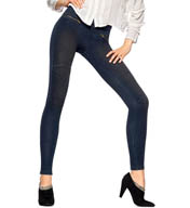 Hue Original Denim Moto Leggings 14563