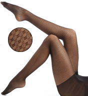 Hue Basketweave Sheer Tights with Control Top 15536