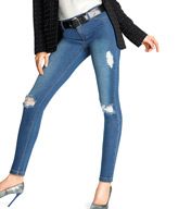 Hue Ripped Denim Leggings 15638