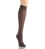 Hue Leopard Knee Hi Sock 15825