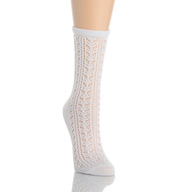 Hue Open Crochet Sock 15905