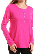 Hue Long Sleeve Tee with Bib Yoke PJ31104