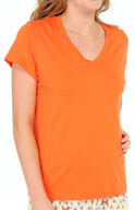 Hue Signature Short Sleeve V-Neck Sleep Tee PJ31123