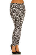 Hue Leopard Jeans Leggings U13999