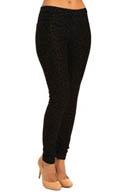 Hue Flocked Print Jeans Leggings U14027