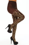 Hue Metallic Foil Leopard Tights U14061
