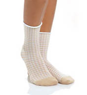 Hue Huetopia Gingham Shortie Sock U14191