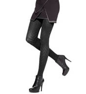 Hue Ridged Herringbone Tights with Control Top U14539
