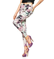 Hue Floral Super Smooth Denim Leggings U15379