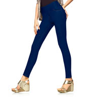 Hue Denim Shaping Leggings With Wide Waistband U15641