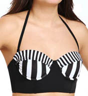 Hurley Surfside Stripe Underwire Bustier Swim Top HU45114
