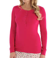 Jane & Bleecker Rib Henley Top 351860