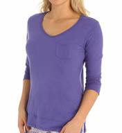 Jane & Bleecker Jersey Split Hem Top 359910