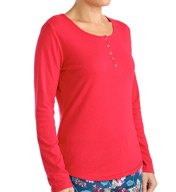 Jockey Holiday Chalet Long Sleeve Henley Top 3351031