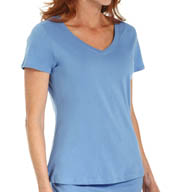 Jockey Cadet Blue Jersey V-Neck Tee 336446