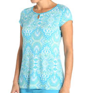 Jockey Enchanted Spring Printed Flowy Top 336951